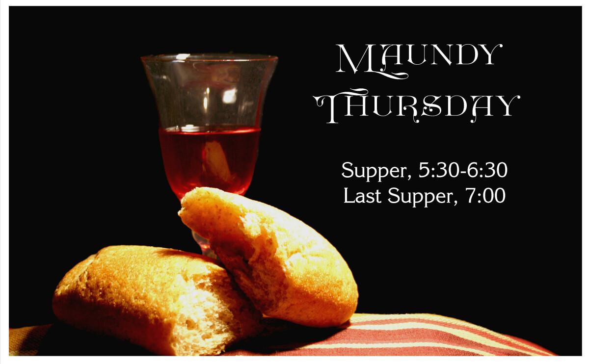 Maundy Thursday Service, 7:00p