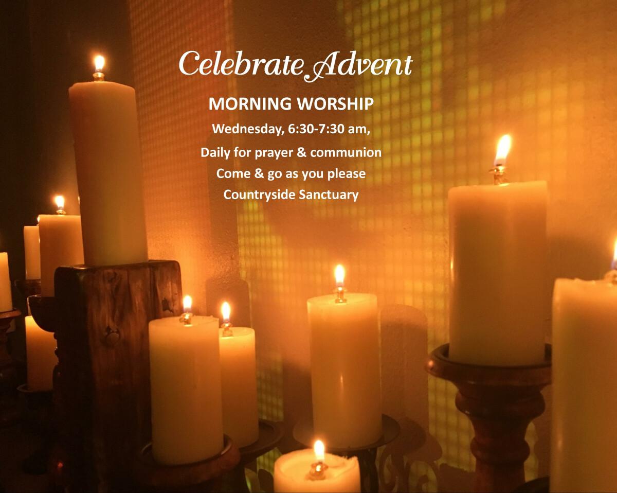 Christmas Daybreak Prayer & Communion, 6:30-7:30a