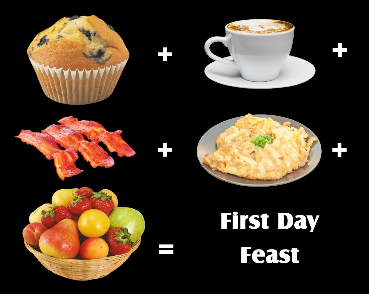First Day Feast, from 9:00a